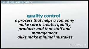 Four Types Of Quality Control