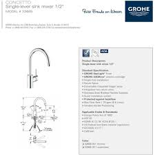Grohe Concetto Kitchen Faucet Grohe 32665dc1 Concetto Super Steel Basin Tap One Handle Kitchen