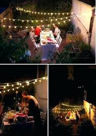 outside patio lighting ideas. How To Hang String Lights Across Backyard Lighting Ideas Outdoor Patio Hanging Outdoors Regarding Outside