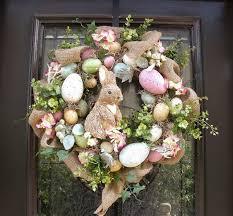 Easter Wreaths for Front Door   Easter Egg Wreath, Easter Bunny Wreath, Front  Door