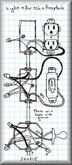 wiring outlets and lights on same circuit google search diy how to wire a switch outlet combo with power constantly supplied to the outlet at Wire Light Switch From Outlet Diagram