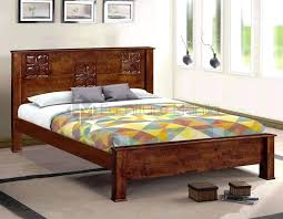 Style King Size Mahogany Bed Frame Solid Natural Finish – elecom.co
