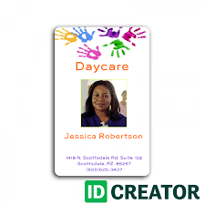 Childcare Worker Id Badge Perfect For Daycare Employees