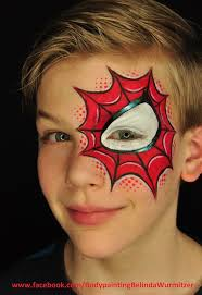 Awesome and unusual spider-man face painting