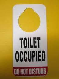 occupied bathroom sign. Image Occupied Bathroom Sign E