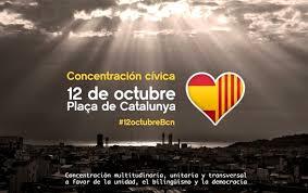 Resultado de imagen de 12 octubre manifestacion barcelona