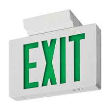 Lithonia Lighting Exit Signs Lithonia Lighting Signature Die Cast Single Face Green Led Aluminum Exit Sign
