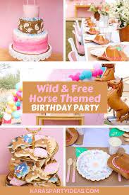 Karas Party Ideas Wild Free Horse Themed Birthday Party Karas