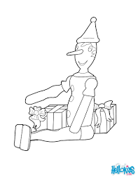 Pinocchio christmas coloring pages - Hellokids.com