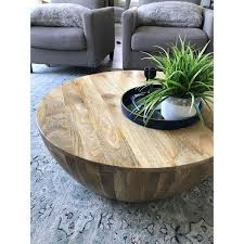 mango wood coffee table in round shape