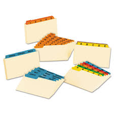 Tabbed Index Cards 4x6 Oxford Laminated Index Card Guides Monthly 1 3 Tab Manila 3 X 5
