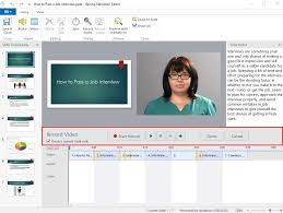 how to create a video how to make a training video using powerpoint step by step
