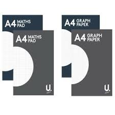 Details About A4 Graph Paper Maths Pad Exercise Book Square Margin 2 Mm Grid Office School Use