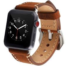 apple watch band iwatch band strap premium vintage genuine leather replacement watchband with secure metal