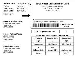City Without Mailed City Herald Voter By Secretary Story Of Identification To Voters Ia Iowa State - News Cards