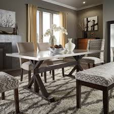 trumbull stainless steel and grey 6 piece dining set by inspire q bold today overstock 9365607