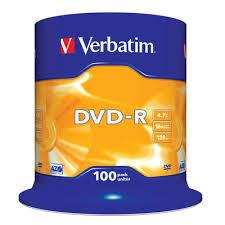<b>Диск DVD-R Verbatim</b> 4,7 GB 16x (100 штук в упаковке ...