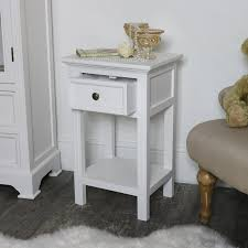 slim white bedside table daventry