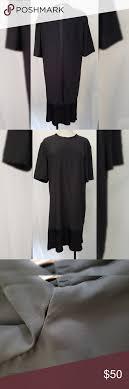 Rag Bone Long Black Dress Pleated Bottom Silk Pre Owned In