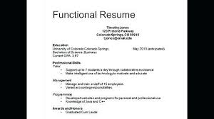 Three Different Types Of Resumes Resume Types Examples Types Of