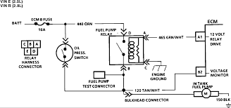 the electric fuel pump is not running in my 1986 chevy s 10 Electric Fuel Pump Wiring Diagram Electric Fuel Pump Wiring Diagram #63 wiring diagram for electric fuel pump