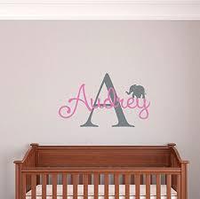 custom name elephant nursery wall decal girls personalized name elephant wall sticker custom name on nursery wall art stencils with amazon custom name elephant nursery wall decal girls