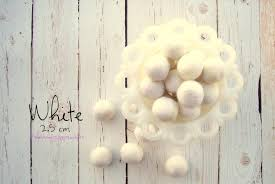 white 2cm 100 wool felt felt pom pom garland diy pom pom garland diy felt ball garland wool mantel decor
