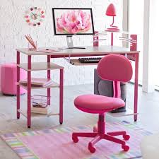 lovely child rolling desk chair with captivating pink computer