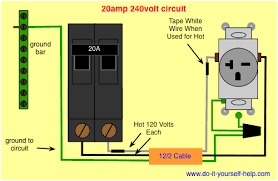 4 wire 240v outlet diagram circuit breaker wiring diagrams do it yourself help com wiring diagram 20 amp 240 volt circuit