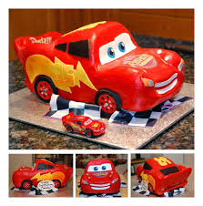 Lightning Mcqueen 3d Car Cake By Sweetcivicdeviantartcom Party