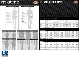Dickies Husky Size Chart Tcs Uniforms Inc