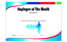 Printable Employee Of The Month Certificates Employee Of The Month Certificate Template 9 Best Example