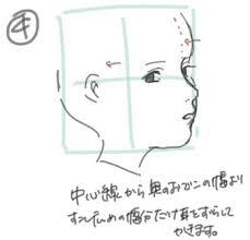 斜め横顔のイラスト顔の描き方と肌の色選びメイキングお絵かき図鑑