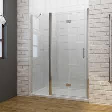 elegant frameless bi fold shower door hinge shower enclosure 700 1300mm inline panel