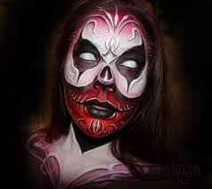 scary face painting ideas