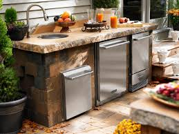 Outdoor Kitchen Sinks Outdoor Kitchen Appliances Hgtv