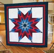 Lone Star Salute - Red White and Blue Quilt Pattern by Jinny Beyer ... & Lone Star Salute + FREE How-To Strip-Piece Video Adamdwight.com