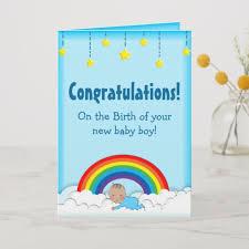Congratulations For A Baby Boy Congratulations Baby Boy Rainbow Card