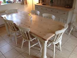 Pine Kitchen Table And Chairs Painted In Annie Sloane Old Ochre