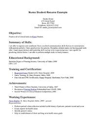 Nursing Student Resume New Grad Nursing Resume Clinical