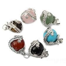 dragon wrap natural stone quartz bead necklace pendant diy jewelry at banggood sold out