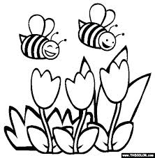 Kids Spring Coloring Pages Free Printable Sheets For Flowers Toddler