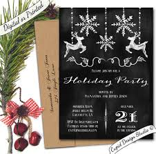 White Christmas Invitations Black And White Chalkboard Christmas Holiday Party Invitations