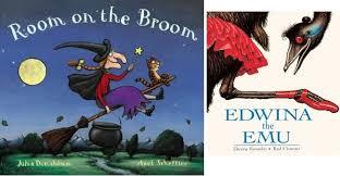 room on the broom and edwina the emu