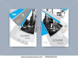 book cover design annual report magazine flyer in a4 business vector set