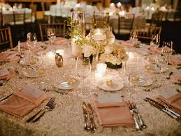 wedding round table settings