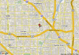 Map of Hampton Inn And Suites Los Angeles Anaheim Garden Grove