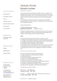 Graduate Research Assistant Resume Httpexampleresumecv Resume ...