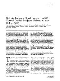 Blood Pressure Chart By Age And Gender Pdf Pdf 24 H Ambulatory Blood Pressure In 352 Normal Danish