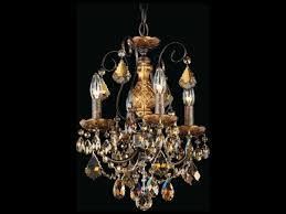 schonbek new orleans four light 12 wide mini chandelier